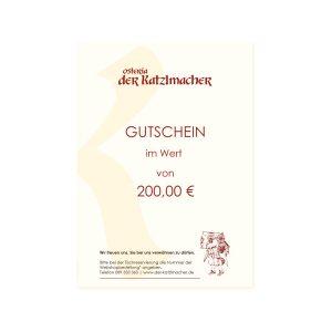 Restaurant Gutschein 200